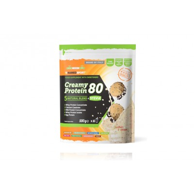 Named Protein. Creamy Protein 80 500 Gram Cookies & Cream